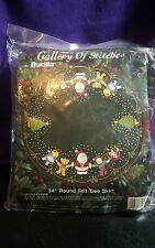 "Bucilla Santa and Friends 36"" Round Felt Tree Skirt Kit  #33105 New Sealed"
