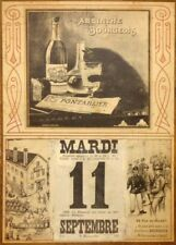 ABSINTHE BOURGEOIS, France, 1802, 250gsm A3 Poster