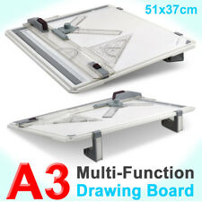 High/pro Quality Office A3 Drawing Board Table Set With Magnetic Clamping Bar UK
