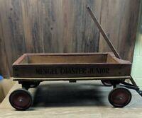 1920's - 30's  Vintage Wooden MENGEL COASTER JUNIOR Wagon