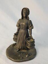 Franklin Mint Pewter Figurine The Homesteader 1974