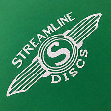 STREAMLINE DISCS Die Cut White sticker disc golf Hyzer Farm