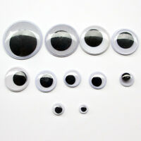 10Sizes 200pcs Self-adhesive Wiggle Googly Eyes Scrapbooking Crafts Toy Access