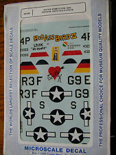 1/48 Microscale Decal P-47D Bubbletops 1945 Big Ass Bird... OOP Thunderbolt