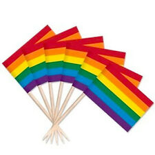 100 Count Rainbow Gay Lesbian Pride Flag Toothpicks - LGBT Pride Party Supplies