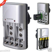New Mains Intelligent Muti Battery Charger for AA AAA and 9V PP3 Sizes US Plug