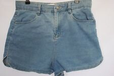 Woman's Light Denim High Waisted Shorts - Supre - Size 12