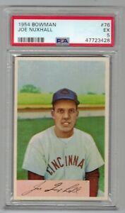 1954 BOWMAN JOE NUXHALL #76 PSA EXCELLENT 5 SWEET