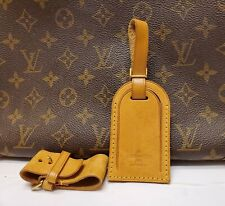 Authentic Louis Vuitton Large Luggage Name ID Tag w/ Strap and Poignet #7