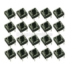 100PCS NEW 6x6x5mm DIP Through-Hole 4pin Tactile Push Button Switch Momentary