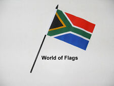 """SOUTH AFRICA SMALL HAND WAVING FLAG 6"""" x 4""""  African Table Desk Crafts Display"""