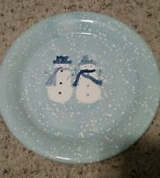 "Home WINTER FROST 8 1/4"" Snowmen Salad Plates Set(s) of 4"