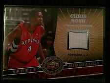 2009 NBA Upper Deck Chris Bosh Game Worn Jersey Card Toronto Raptors