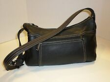 Stone & Co Black Pebbled Leather Shoulder Bag With Silver Hardware Very Nice