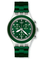SWATCH + Irony Diaphane Chrono + SVCK 4043ag Full Blooded GREEN + NUOVO/NEW