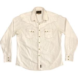 Wrangler Retro Western Shirt Snap Long Sleeve White Men's Size XXL MVR250W