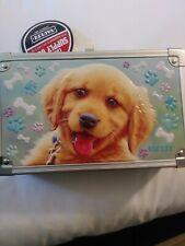 Vaultz Sturdy Key Locking Supply Box With Exterior Embossed Puppy New-Free Ship
