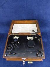 Vintage Leeds & Northrup Potentiometer in Oak Case for Parts or Repair. #2492
