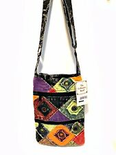 Small Bohemian Handbag Crossbody Eyelet Karma Circle USA Cotton Colors Vary