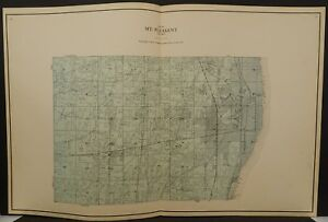 Wisconsin Racine County Map Mt. Pleasant Township 1924 Double Pg L20#12