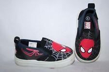 Marvel Ultimate Spider-man Boys Shoes Size 5 Toddler Blue Black Red Slip On