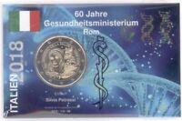 2 Euro Coincard / Infokarte Italien 2018 Gesundheitsministerium