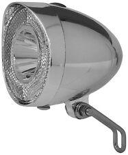 Chrom Fahrradlampe Retro  * 40 Lux + Standlicht + Sensor  *   - Top Produkt -