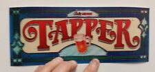 Tapper arcade marquee sticker. 4 x 10. (Buy any 3 stickers, Get One Free!)