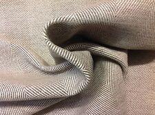 Clarence House Herringbone Upholstery Fabric- Marlborough/Pebble 5.50 YD 34637-5
