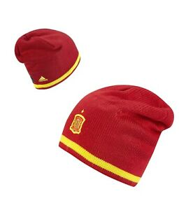 adidas climawarm 15/16 SPAIN España Red Yellow Football Soccer Beanie Toque Hat