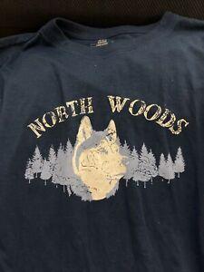 Cherokee Boys Pajama Shirt XL (16/18) Long Sleeve Loungewear Sleepwear Blue,wolf