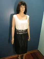 Plus Size 20W black/white NWT FORMAL dress with LACE WAIST AND BELT by DANA KAY