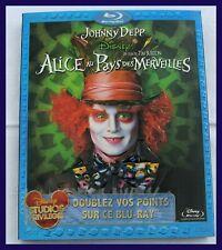 """DVD BLUE-RAY """"ALICE AU PAYS DES MERVEILLES"""" DISNEY ANNÉE 2010"""