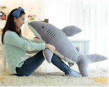 "Big white shark Jaws Stuffed Animal Toy Doll 27.5""Plush Toy kid gift"