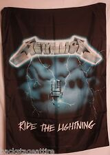 RARE Metallica Ride the Lightning Cloth Fabric Textile Poster Flag Banner-New!
