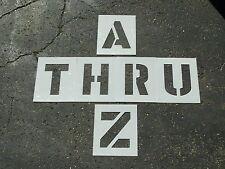 "12"" Alphabet Stencils for Parking Lot Striping ReUsable 1/16"", 60 Mil LDPE Mat'l"