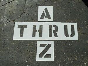 "8"" Parking Lot Alphabet Stencils Parking Lot Striping Stencils 60 Mil Thick LDPE"