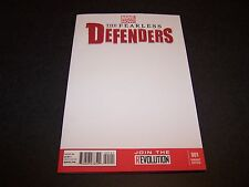 """The Fearless Defenders #1 Blank """"Get A Convention Sketch"""" Variant Marvel Now!"""