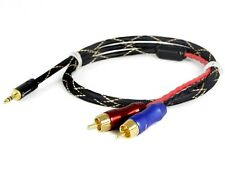 ZY ZY-013 1M Professional Cable 3.5mm to AV 2 RCA Audio Adapter Cable for iPod/M