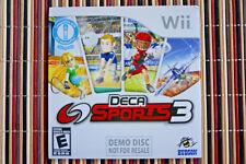 Deca Sports 3 Wii Demo Disc Hudson