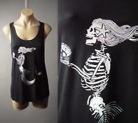 Black Mermaid Skeleton Undead Zombie Gothic Graphic Tank Top 203 mv Shirt S M L
