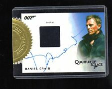 James Bond 2013 Autographs & Relic Daniel Craig  auto and Relic card 12/155