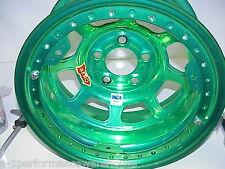 """Aero GREEN 5 x 4-3/4"""" Beadlock Wheel 15""""x 8"""" IMCA 2"""" Offset W24 Modified L@@K"""