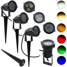 Waterproof LED Garden Spike Light Otdoor Lamp 15W 12W 9W DC12V DC24V AC85-265V