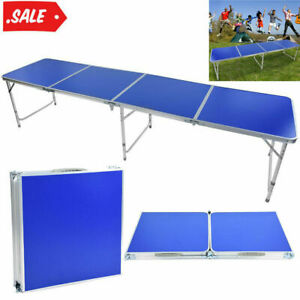 Folding Beer Pong Table 3 Foot Design In/Outdoor Picnic Party Camping Tables