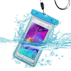 Universal Apple Blue Lightning Waterproof Pouch for iPhone 7 Plus, iPhone 7/ 8