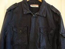 APOLIS ACTIVISM Navy Cotton Archive Military Jacket XL Made in USA Riri zipper