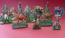 6 soldats en tôle - Très anciennes figurines en tôle sur le premier empire