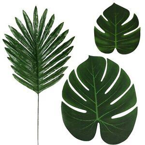 36 Pcs 3 Kinds Artificial Palm Leaves Tropical Plant Faux Leaves Safari Leave...