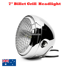 "Chrome retro Grill 7"" headlight Harley chopper bobber cafe racer custom projects"